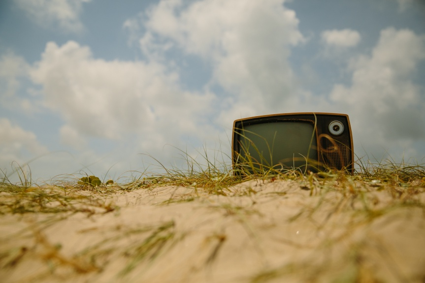 tv in the sand