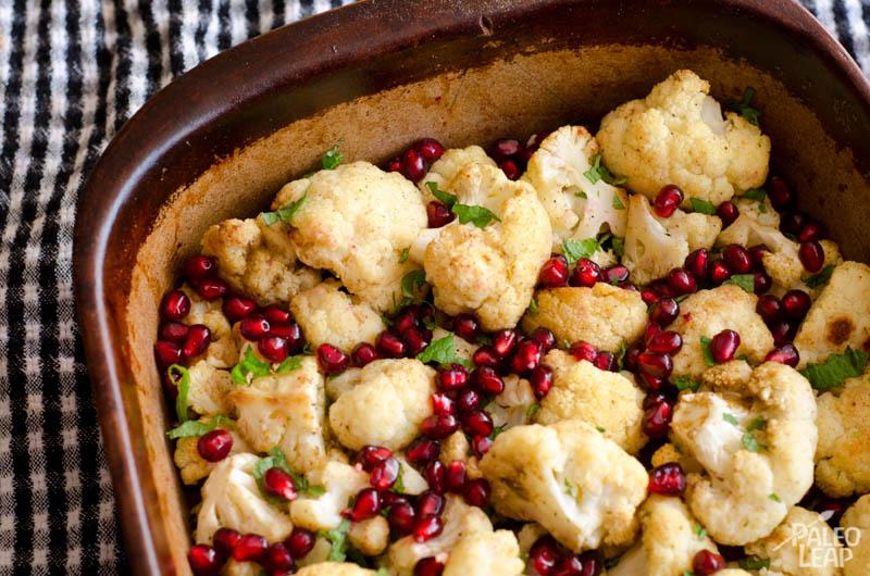 Roasted Cauliflower Mint Pomegranate – metabolic balance MondayRecipe