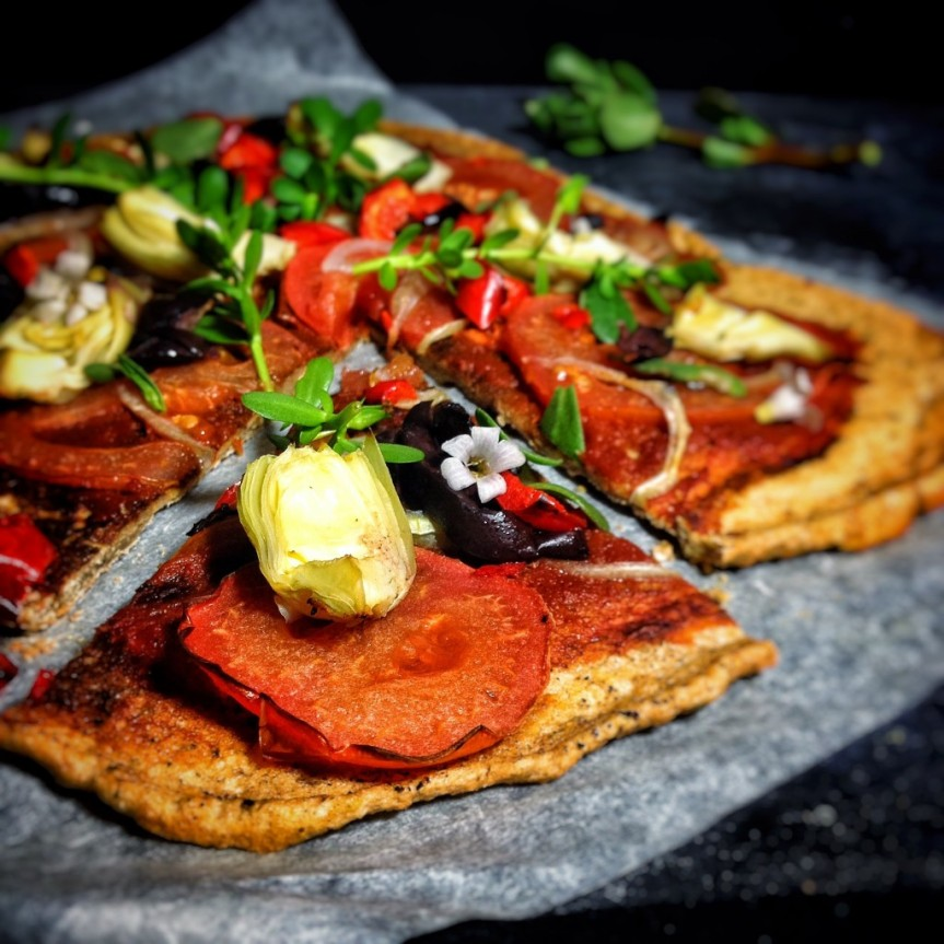 Lentil Pizza Crust -metabolic balance Monday Recipe
