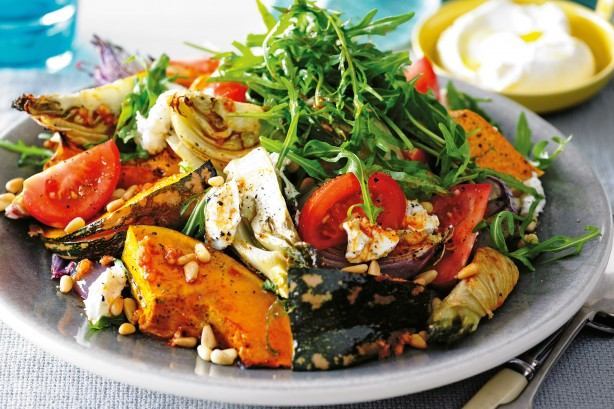 metabolic balance Monday Recipe -Roasted Autumn Vegetable Salad