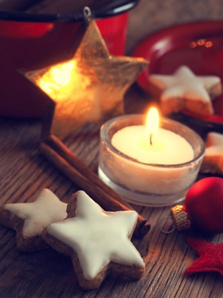 MB 12-13 - Weihnachtsstern mit Kerze